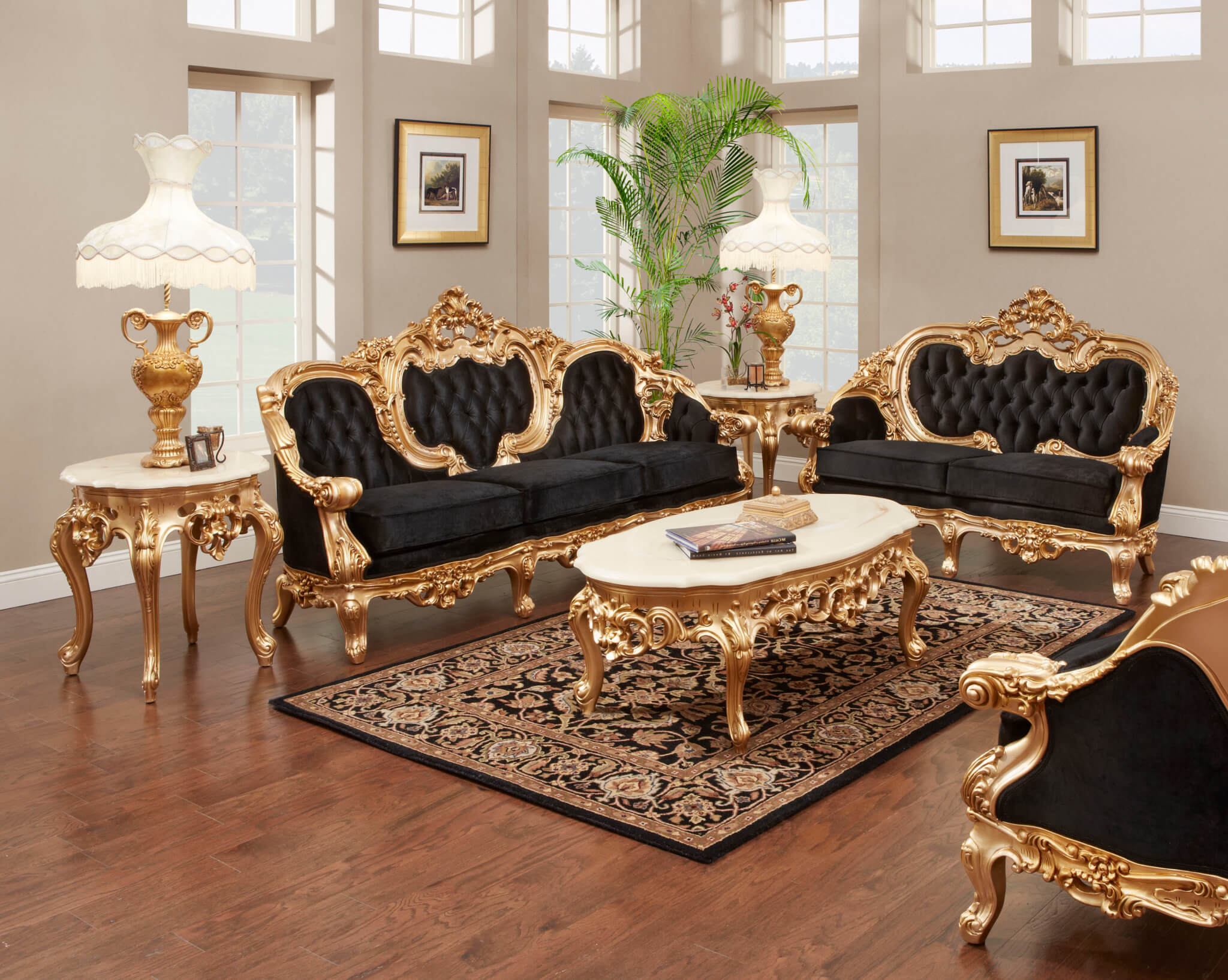 French Gold Leaf Living Room Set regarding 11 Smart Tricks of How to Craft Deals On Living Room Sets