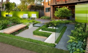 Garden Contemporary Outdoor Plants Landscape Ideas Modern Front for 10 Clever Initiatives of How to Build Contemporary Backyard Ideas