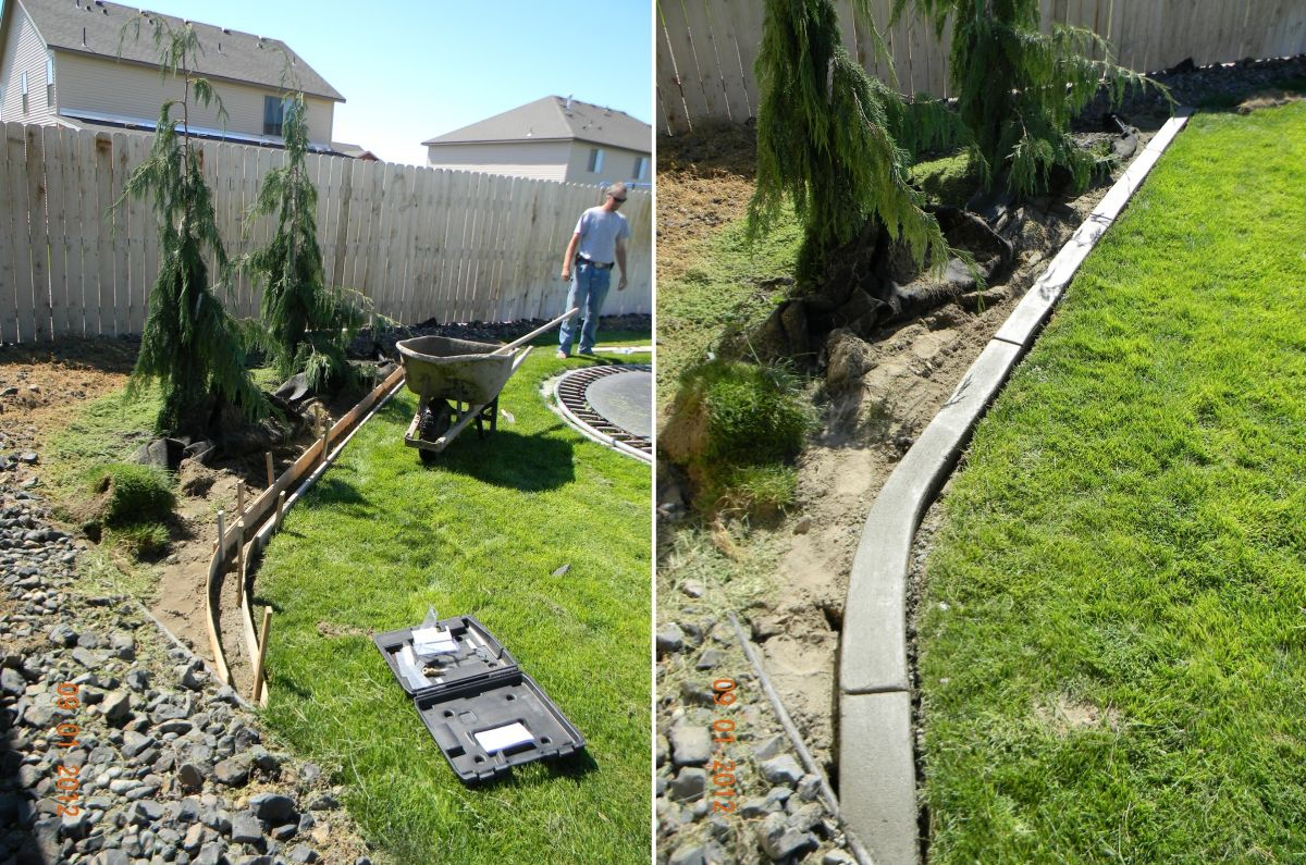 Garden Edging How To Do It Like A Pro Make Lawn Install Patio Design with regard to Backyard Border Landscaping Ideas