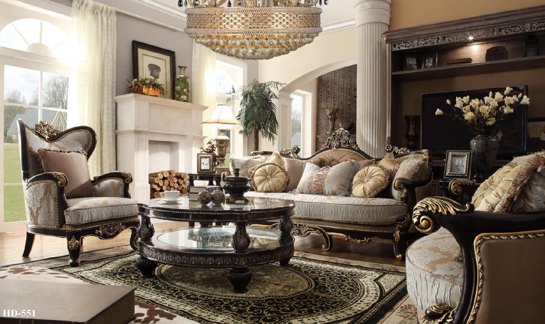 Hd 551 Homey Design Upholstery Living Room Set Victorian European Classic Design Sofa Set intended for 10 Smart Designs of How to Build Complete Living Room Sets