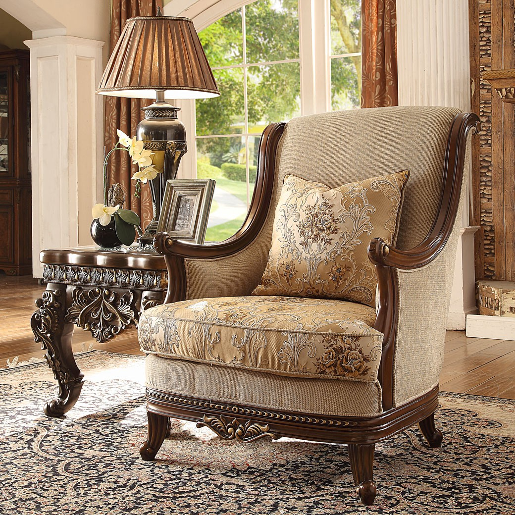 Hd 92 Homey Design Upholstery Accent Chair Victorian European Classic Design intended for 10 Clever Ideas How to Build Victorian Style Living Room Set