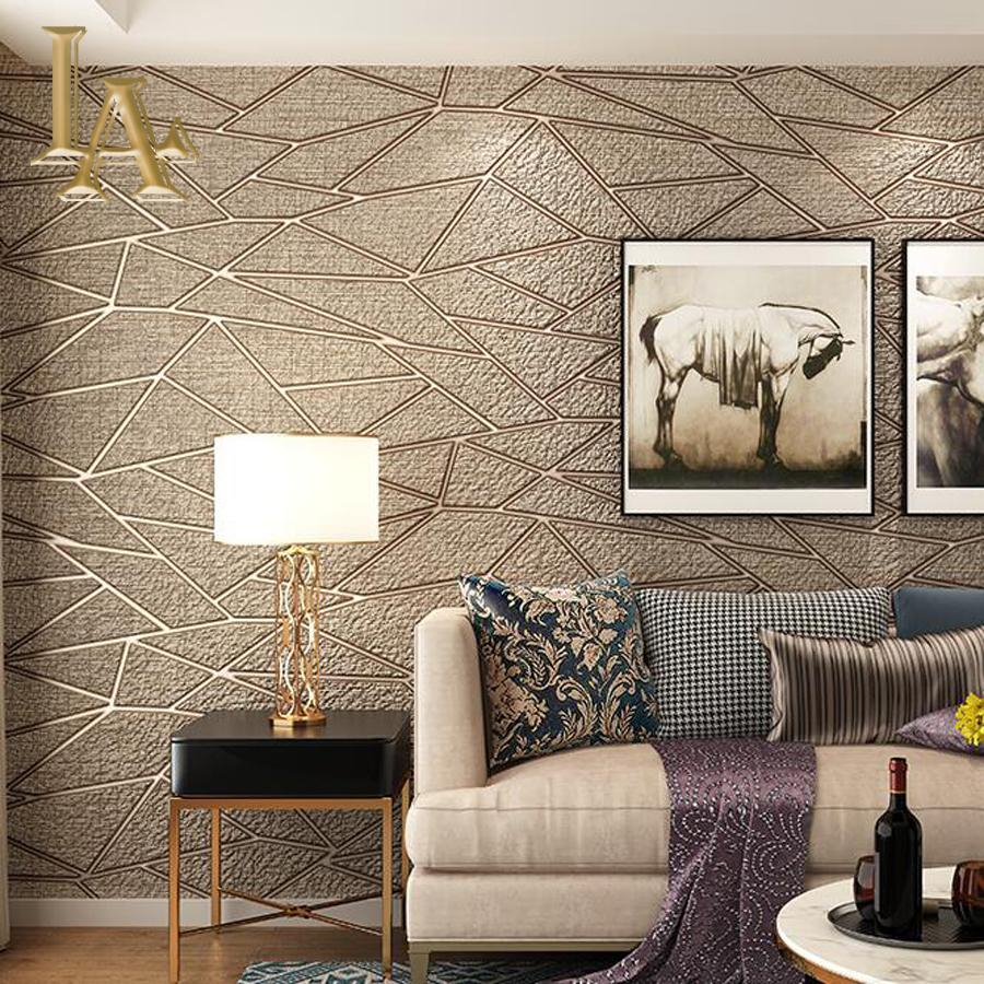 High Quality Thick Flocked Modern Geometry 3d Wallpaper For Walls Decor Home Wall Paper Rolls For Living Room Sofa Tv Background with regard to Modern Wallpapers For Bedrooms