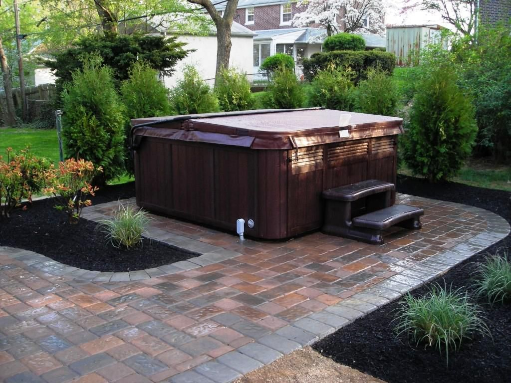 Hot Tub Landscaping Privacy Backyard Hot Tub Landscaping Ideas with regard to Backyard Ideas With Hot Tub
