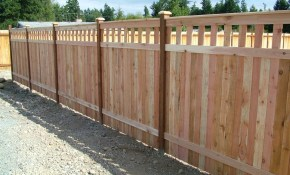 Inexpensive Alternative Design For Craftsman Style Privacy Fence with Wood Fence Backyard