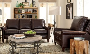 Jericho Two Piece Dark Brown Leather Queen Sleeper Sofarecliner Living Room Set pertaining to Sleeper Living Room Set