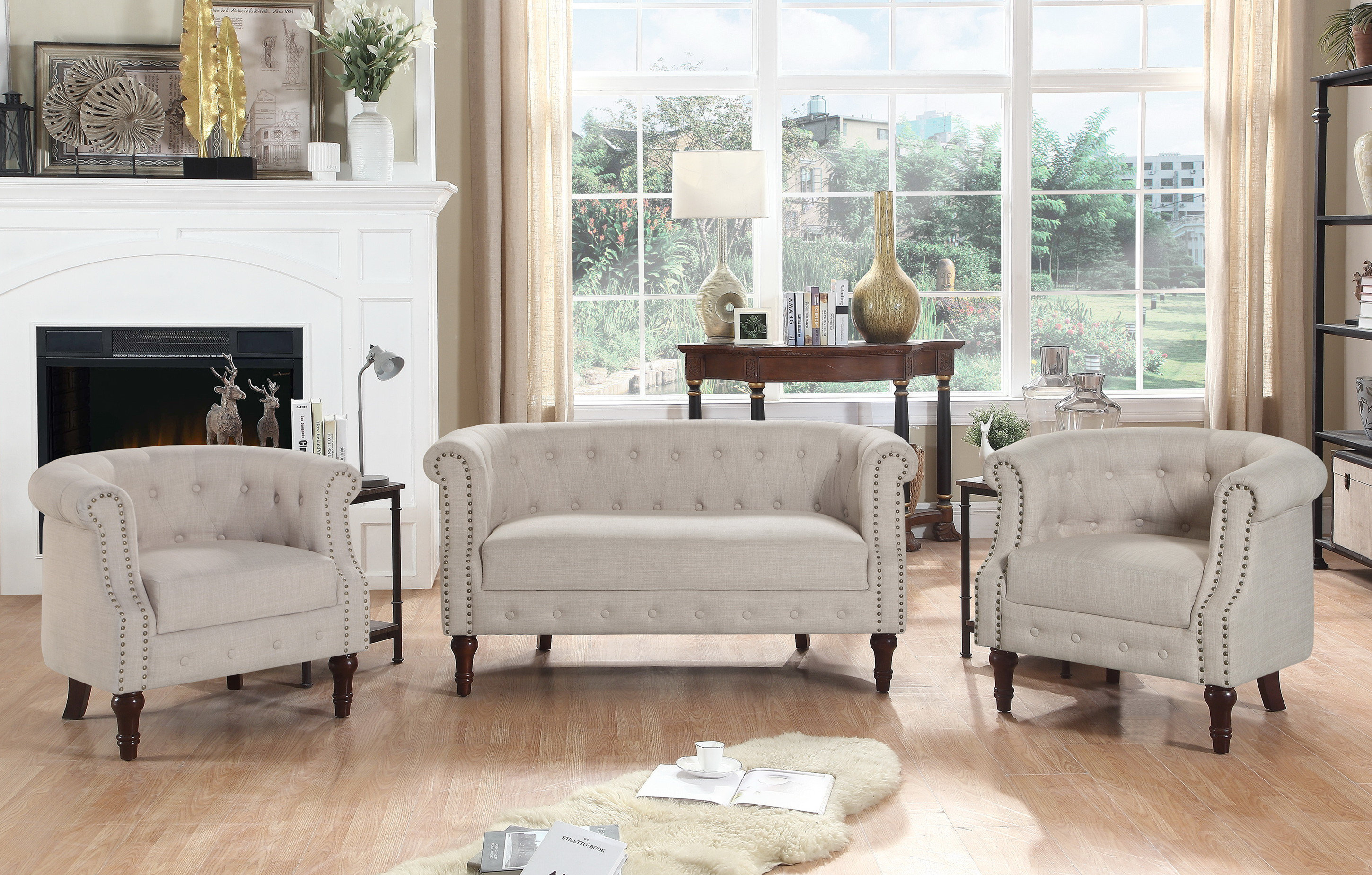 Kelty 3 Piece Living Room Set with regard to Best Living Room Set