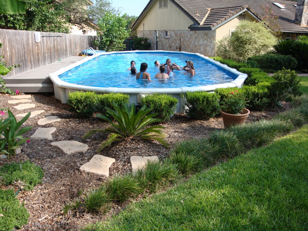 Landscaping Around Your Above Ground Pool Trends With Ideas For throughout Backyard Landscaping With Above Ground Pool