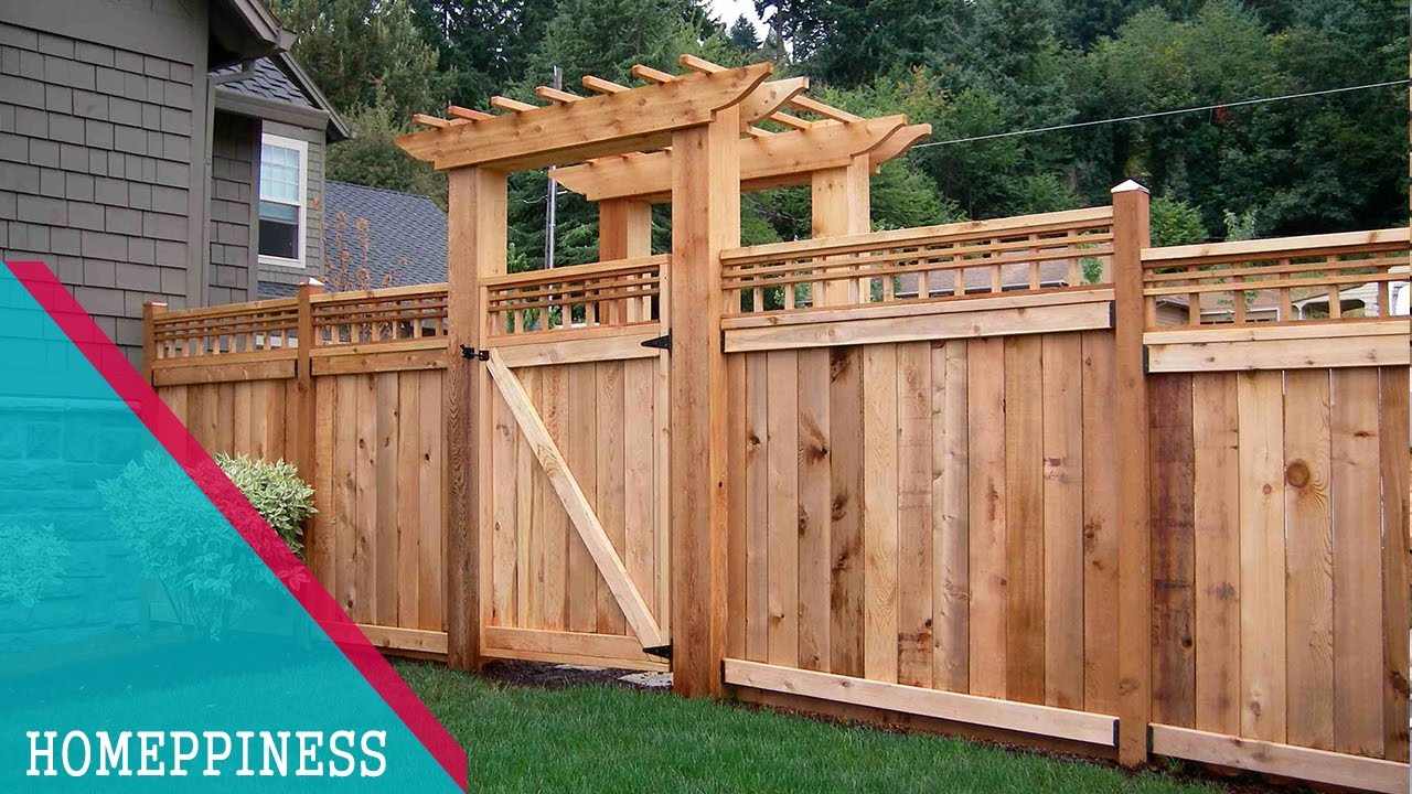 Latest Design 50 Wood Fence Ideas 2017 inside 15 Awesome Tricks of How to Build Backyard Wood Fence