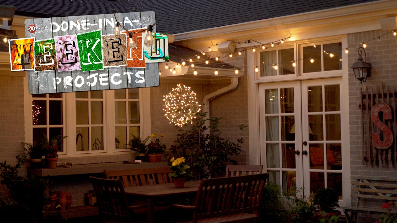 Light Up Your Life How To Add String Lights To Your Yard Youtube inside 14 Some of the Coolest Ways How to Craft Decorating Backyard With Lights