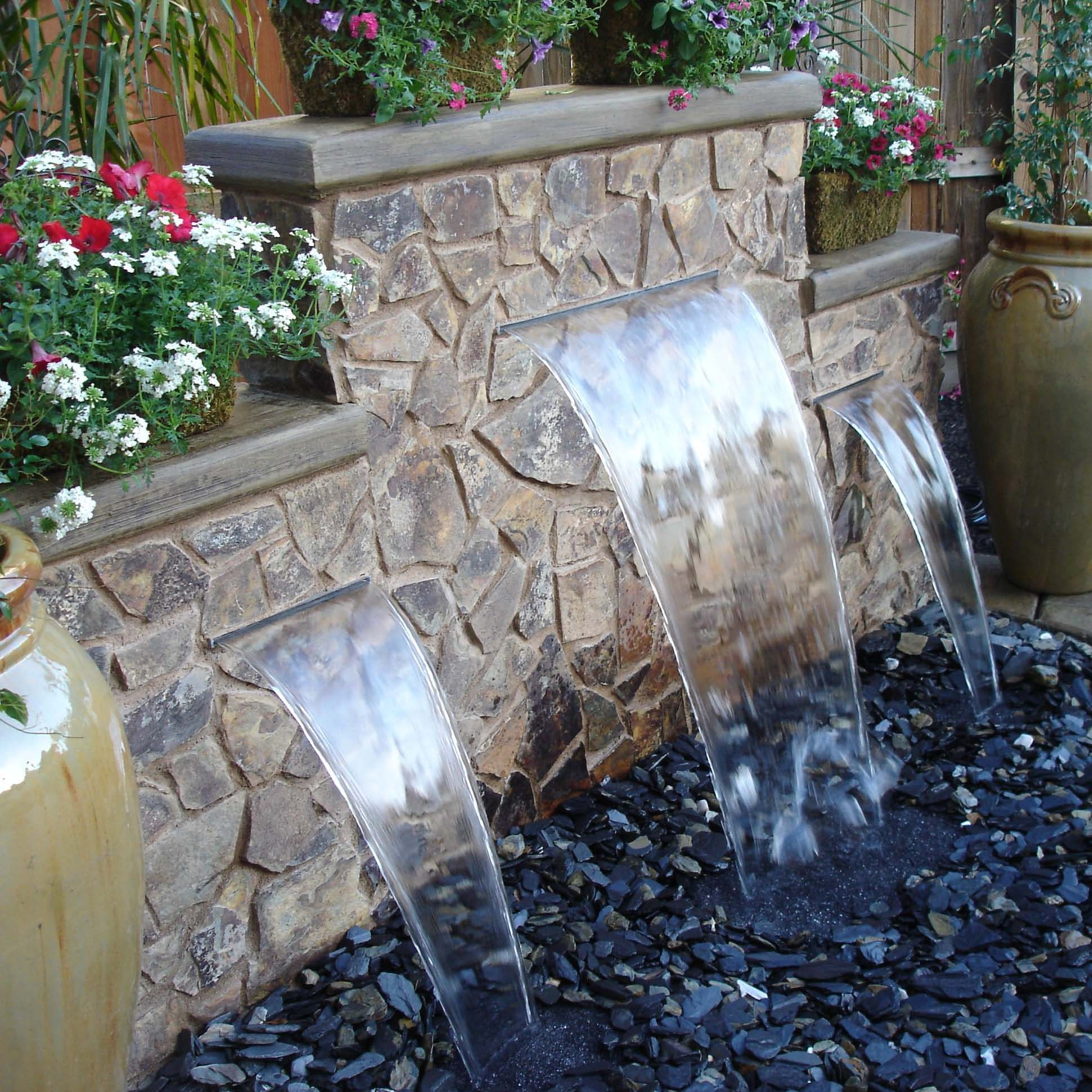 Love This Water Feature The Yard Water Features In The Garden throughout Backyard Water Features Ideas