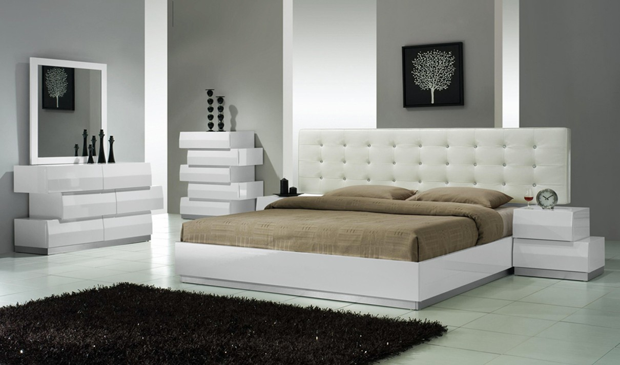 Milan Modern Bedroom Set In White throughout 14 Some of the Coolest Tricks of How to Make Modern Bedrooms Sets