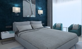 Modern Bedroom With Green Wallpaper 3d Model for 12 Smart Concepts of How to Upgrade Modern Wallpaper Bedroom
