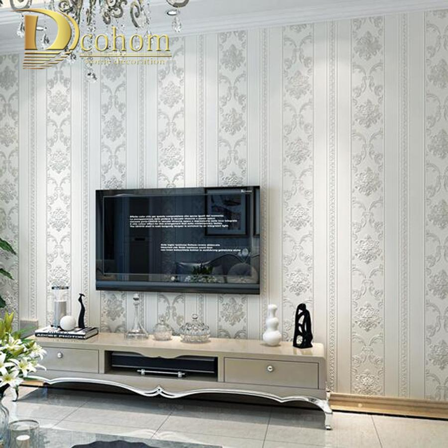 Modern Luxury Homes Decor European Striped Damask Wallpaper For Walls Bedroom Living Room Embossed Grey Beige Wall Paper Rolls inside 12 Smart Concepts of How to Upgrade Modern Wallpaper Bedroom