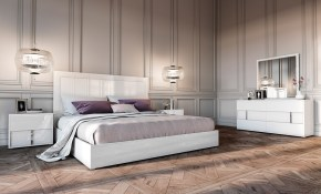 Modrest Nicla Italian Modern White Bedroom Set throughout Bedroom Set Modern