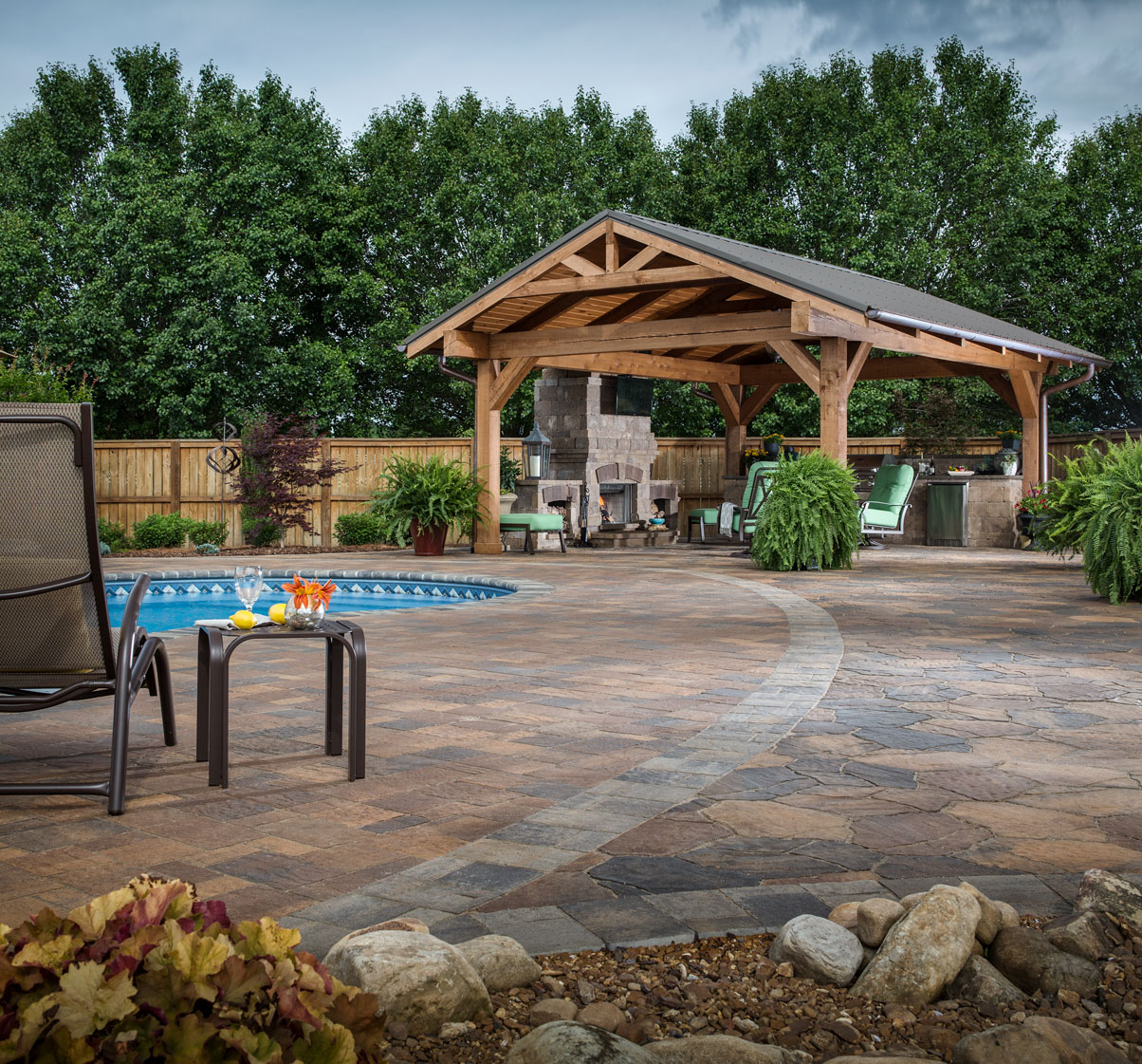 Paver Patio Ideas Backyard Design Stone Patio Pictures for 10 Smart Ways How to Make Backyard Hardscape Ideas