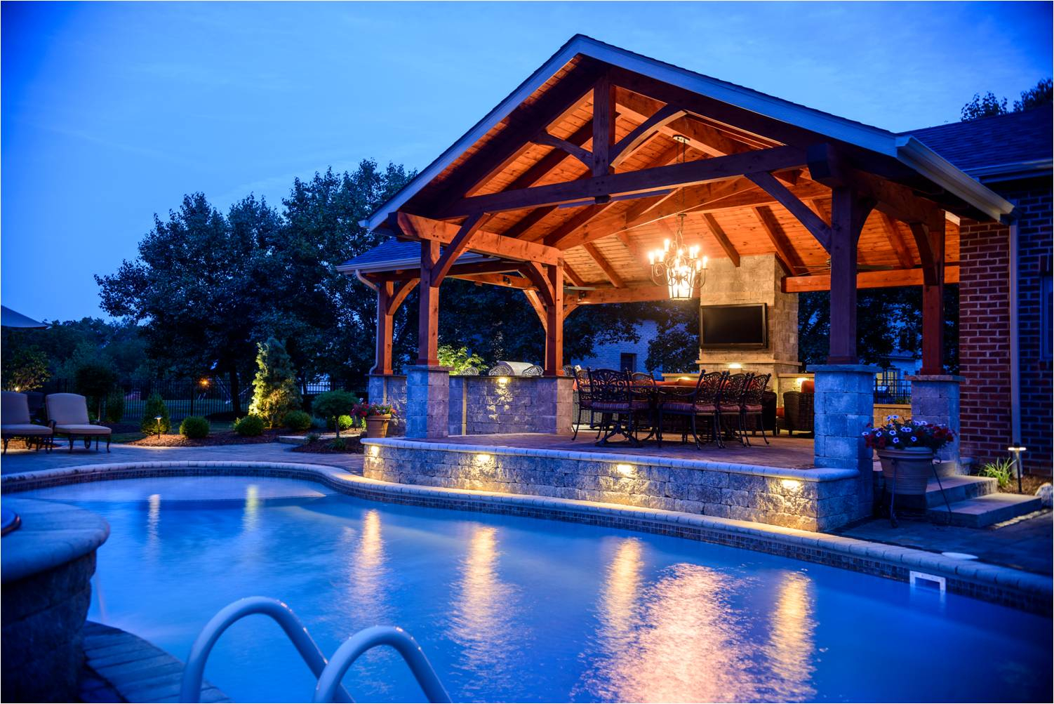 Pittsburgh Landscape Showcase Gibsonia Backyard Paradise with regard to Backyard Paradise Landscaping