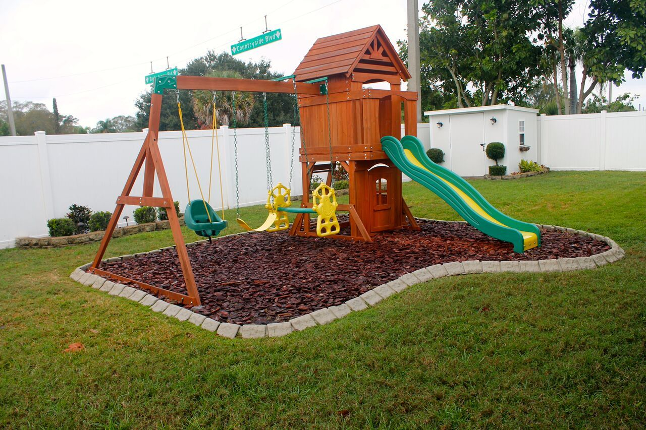 Playground Edging Backyard Ideas In 2019 Backyard Playground in 14 Awesome Designs of How to Improve Backyard Playground Ideas