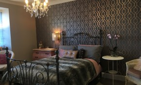 Rose Gold Wallpaper Bedroom Ideas Modern Pink And Grey Bedroom throughout Modern Wallpaper Bedroom