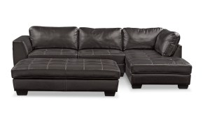 Santana 2 Piece Sectional With Chaise And Cocktail Ottoman Set for American Signature Living Room Sets