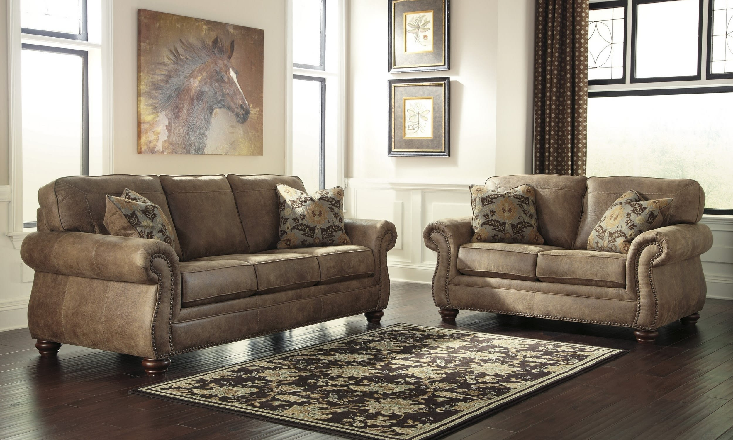 Signature Design Ashley 3190138 3190135 throughout 14 Smart Ways How to Makeover Ashley Living Room Set