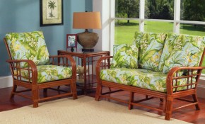 Spring Lake Rattan Wicker 3 Piece Living Room Set From Classic Rattan Model 5100 Set2 regarding 3 Piece Living Room Sets