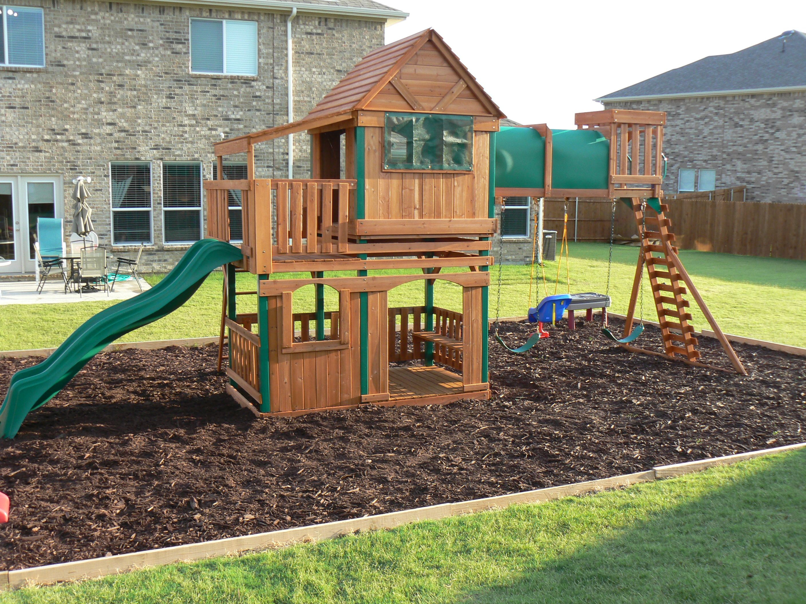 Step Step How To Border A Playground Area Outside In 2019 intended for 14 Awesome Designs of How to Improve Backyard Playground Ideas