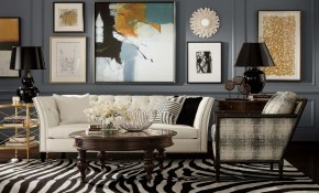 This Ethan Allen Zebra Rug In Expressoivory Gives This Room Some regarding 12 Clever Initiatives of How to Improve Zebra Living Room Set