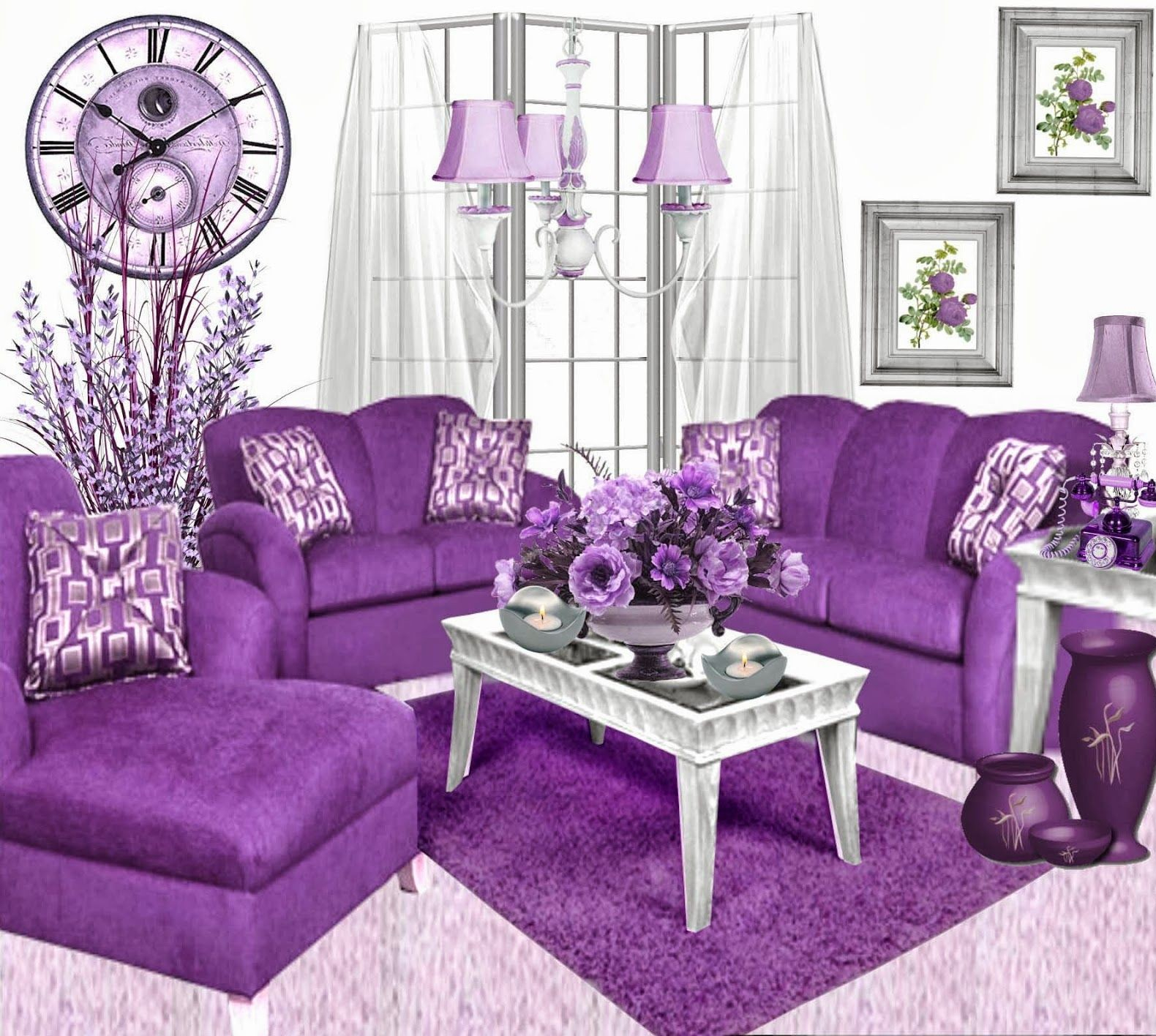 Tips On Decorating Purple Living Room Decorating Room throughout 12 Clever Ways How to Upgrade Purple Living Room Set