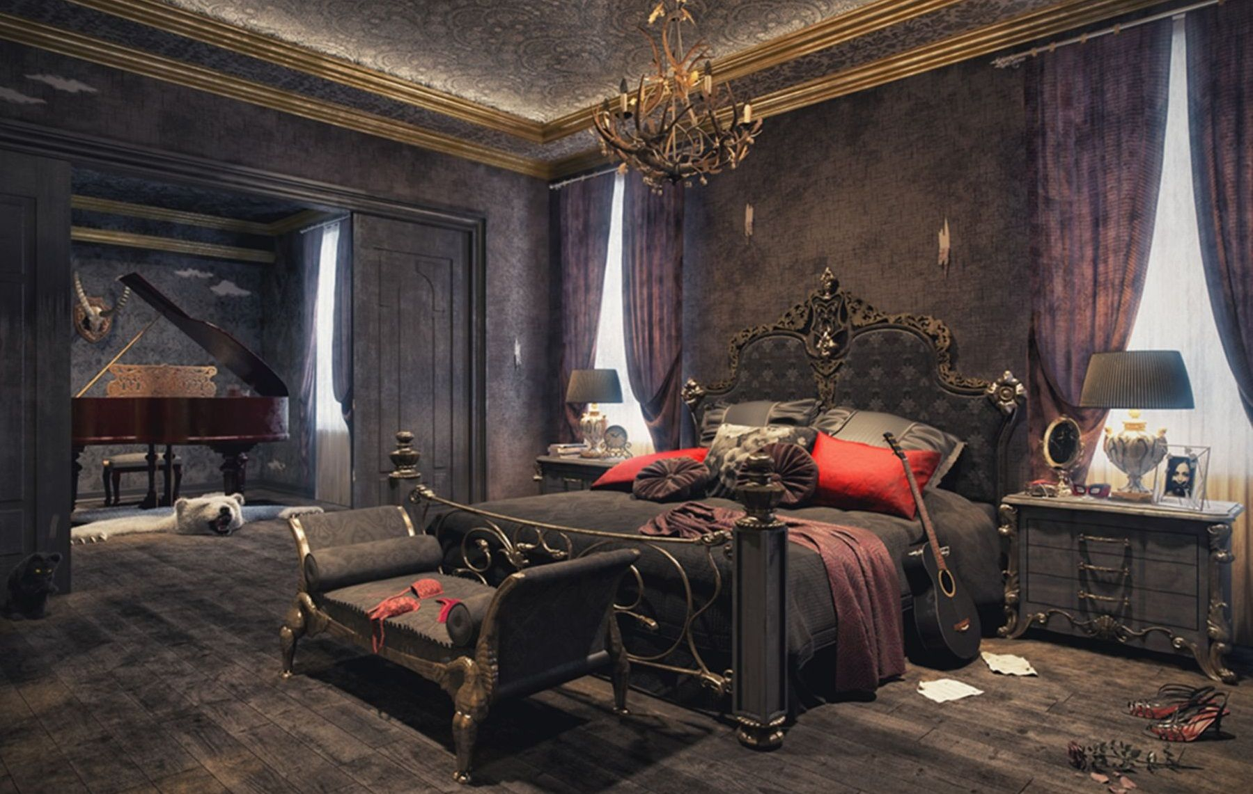 Top 10 Awesome Modern Gothic Bedroom Ideas That Will Make Your within Modern Gothic Bedroom