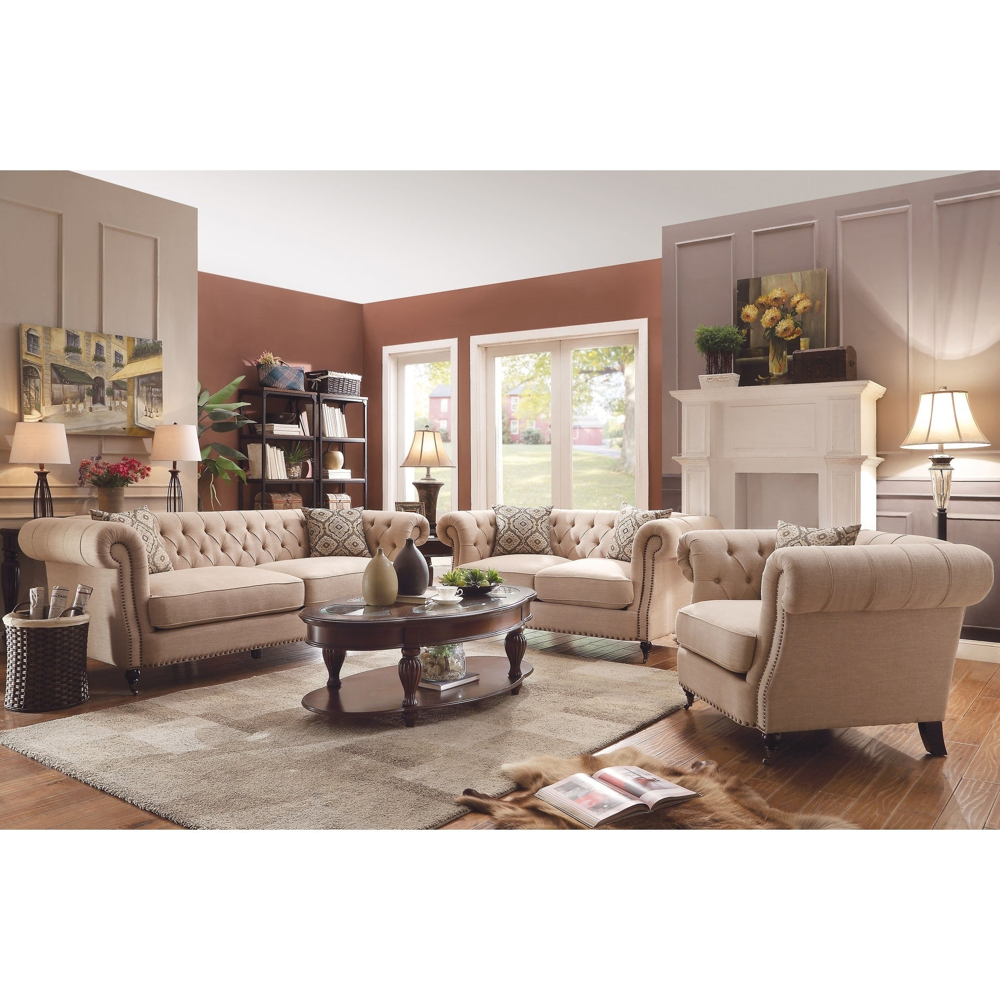 Trivellato Traditional Oatmeal 3 Piece Living Room Set for 12 Genius Tricks of How to Upgrade Traditional Living Room Sets