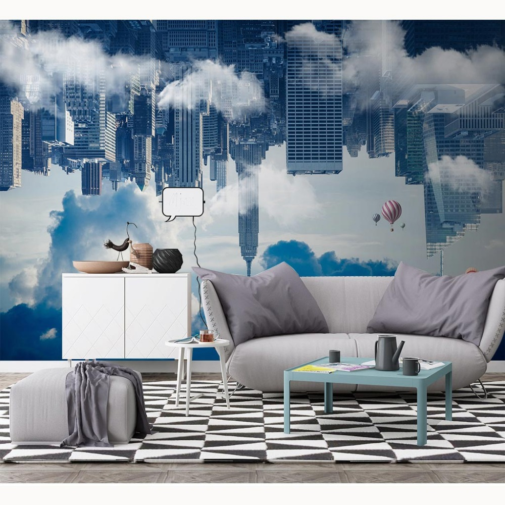 Us 1641 46 Offaliexpress Buy Modern Wallpaper Creative City Photo Wall Paper Mural Living Room Bedroom Papel De Parede 3d Self Adhesive pertaining to Modern Wallpaper Bedroom