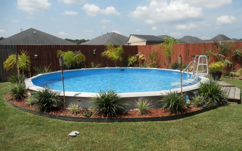 Why Above Ground Pools With Decks Are So Hype Pool In 2019 regarding Backyard Landscaping Above Ground Pool