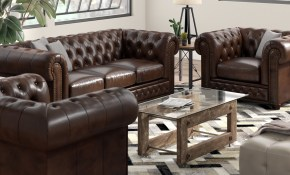 Worcester Leather 3 Piece Living Room Set with regard to 10 Smart Designs of How to Build Complete Living Room Sets