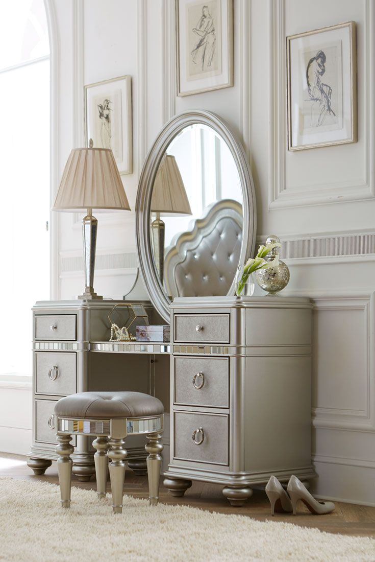You Can Try Bedroom Vanity Also Vanity Table With Mirror And Makeup inside Modern Bedroom Vanity Set