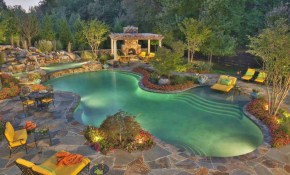 24 Beautiful Mediterranean Pool Designs with regard to Backyard Pool Landscaping