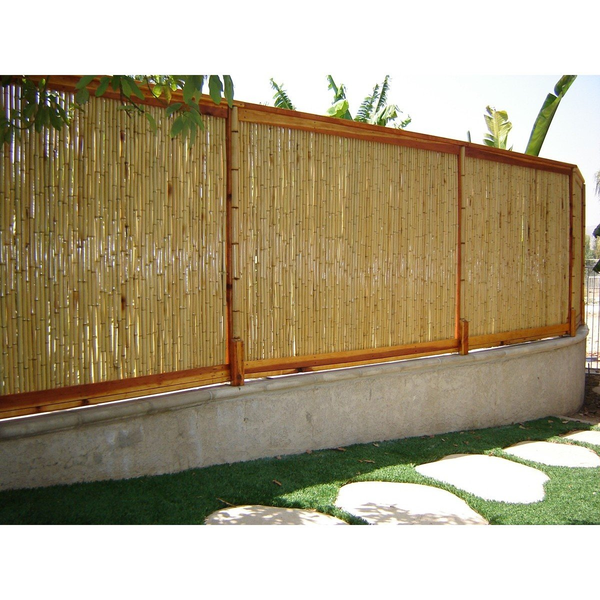 8 Ft W Rolled Bamboo Fence Panel within Backyard XScapes Rolled Bamboo Fencing