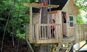 A Backyard Tree House With Zip Line And Hammock Habitat with regard to 15 Smart Ideas How to Upgrade Backyard Zip Line Ideas