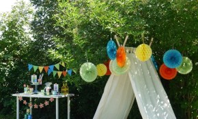 A Summer Backyard Camping Party With Free Printables Party in Backyard Party Ideas For Kids