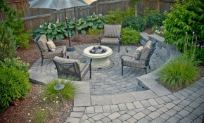 Backyard Landscaping For Patios Fire Pits More Tlc intended for Backyard Landscape Photos