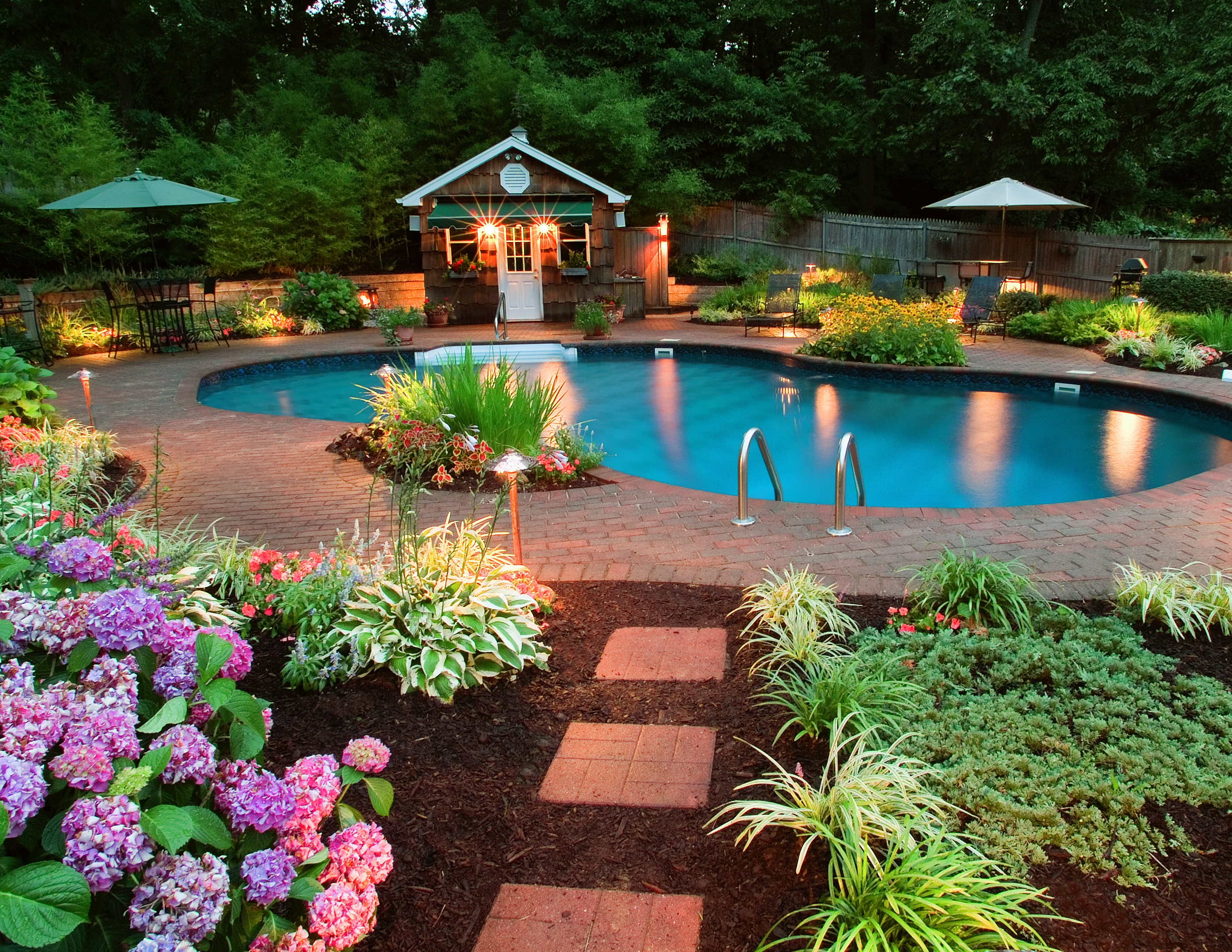 Backyard Pool Landscaping Ideas Homesfeed throughout 15 Genius Tricks of How to Craft Backyard Pool Landscaping