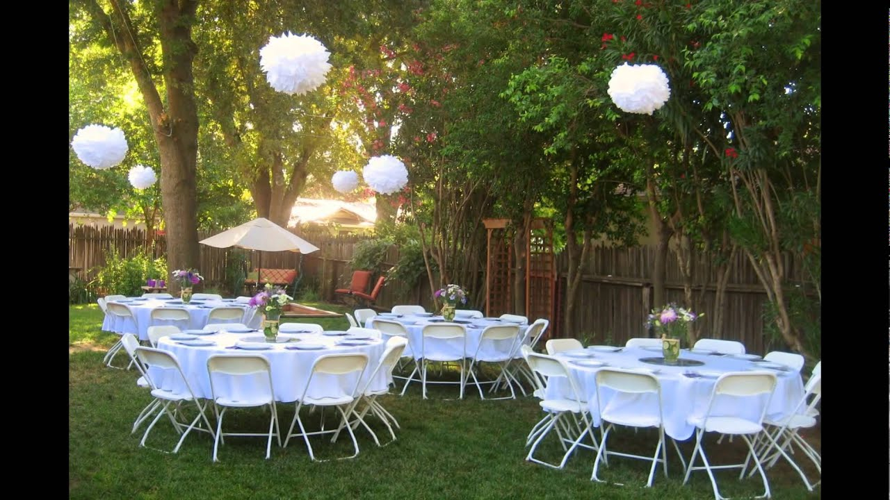 Backyard Wedding Reception Ideas throughout Wedding Backyard Ideas