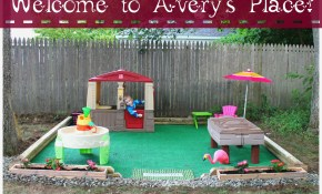 Diy Outdoor Play Space Averys Place Get Outside for Cheap Backyard Ideas For Kids