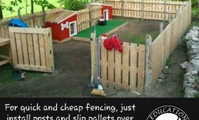 Do You Have A Yard That Isnt Fenced Heres An Easy Way To Build A intended for 16 Clever Ways How to Make Temporary Backyard Fence