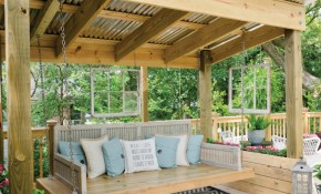 Getting Ready For Summer Enliven Your Porch With Comfy intended for Backyard Covered Patio Ideas