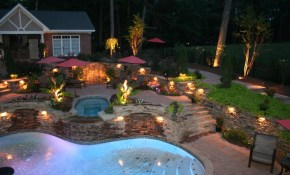 Outdoor Lighting Ideas Awesome House Lighting Cool Outdoor Flood throughout Cheap Backyard Lighting Ideas