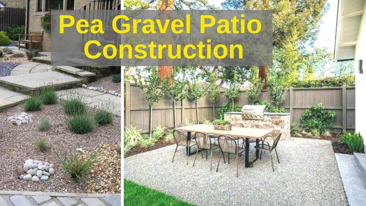 Pea Gravel Patio For 100 In 4 Hours Timelapse with Backyard Gravel Ideas