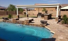 Phoenix Landscaping Designs Outdoor Kitchens And Pavers regarding Arizona Backyard Landscape Design