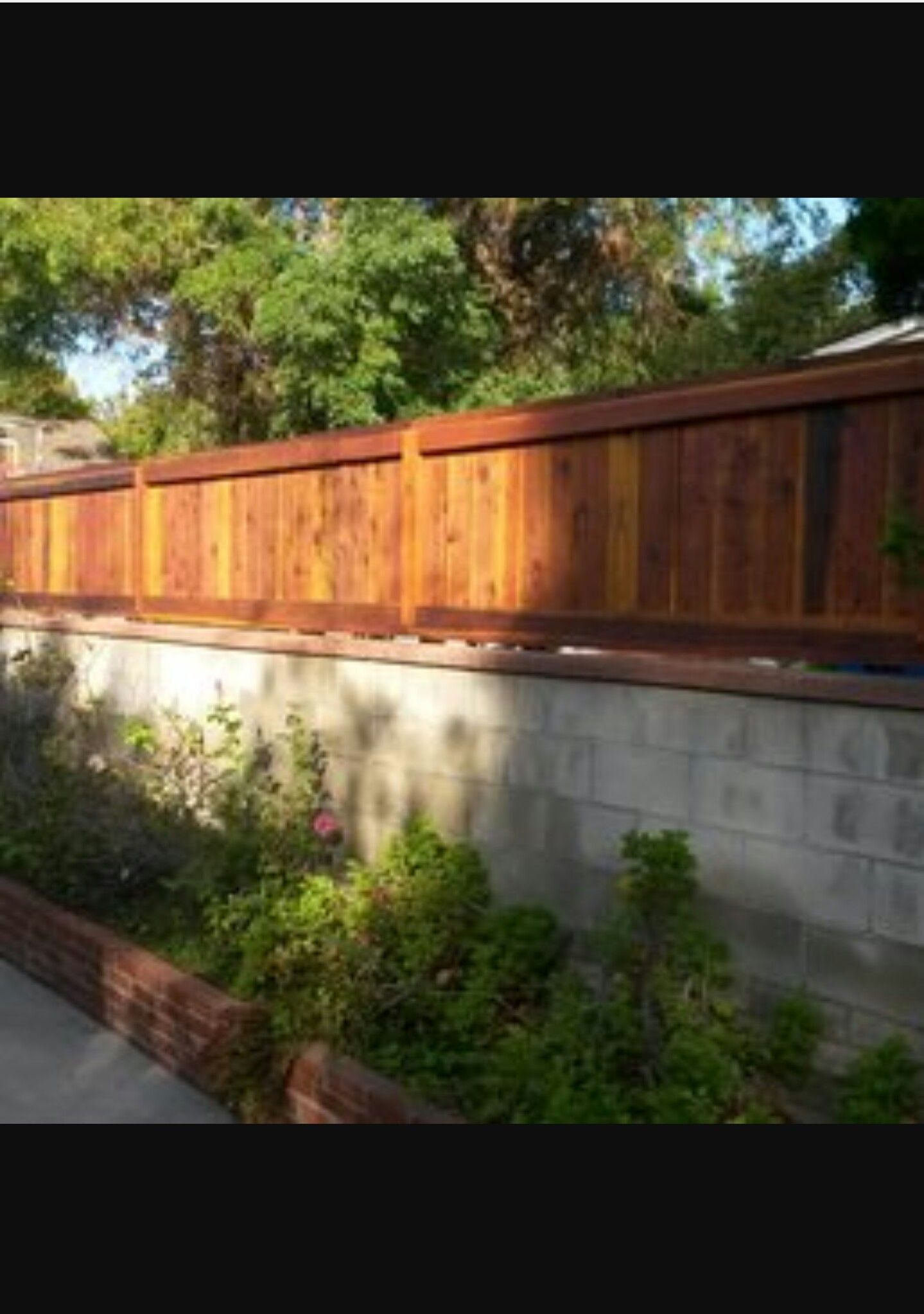 Pin Bertha Rodriguez On Block Wall Fence In 2019 Wood Privacy pertaining to 15 Genius Concepts of How to Make Backyard Privacy Wall Ideas
