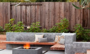 Pin Travis Allen On Thames House Backyard Backyard Seating in Concrete Backyard Landscaping