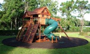 Playground Ideas For Backyard Backyard Rubber Mulch The regarding Playground Ideas For Backyard